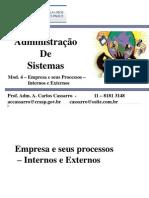 UMC - Adm. Sistemas - 4 - A Empresa e Seus Processos - Internos e Externos (2)