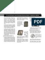 El uso del titanio como biomaterial para prótesis e implantes médicos