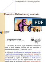 Proyectos Definiciones y Contexto