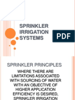 Sprinkler Irrigation Systems