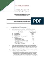 BSP -- Basic Guidelines in Establishing Banks