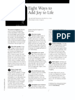 8 Ways Joy to Life