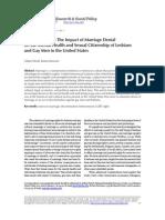 Impact of Marriage Denial on Mental Health of LGBTs