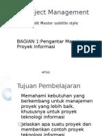 Manajemen Proyek Sistem Informasi 1