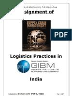 Logistics Practices in India