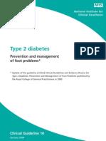 Diabetic Footcare NICE Guidlies