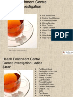 Health Enrichment Centre Health Screening Standard Gems Packages 2011