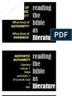 Bible as Lit and Ss