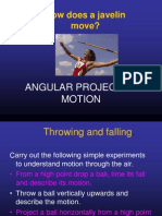Angular Projectile Motion
