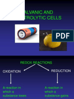 Galvanic & Electrolytic Cells