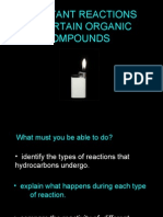 Important Reactions of Organic Compounds