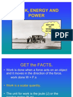 Work, Energy & Power