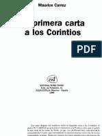 5056564 066 La Primera Carta a Los Corintios Maurice Carrez