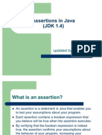 Assertions in Java