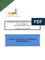 CHARTE DU SERVICE TECHNIQUE MAINTENANCE (adapté)