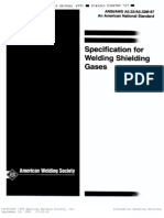 Ansi-Aws a5.32-97 - Specification for Welding Shielding Gases