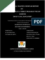 220 Kv Gss Sanganer Report