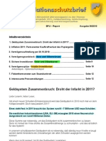 INFLATIONSSCHUTZ-BRIEF (Börsenbrief Börsenmagazin Anlegermagazin) Nr. 36/2010