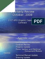 Quarterly Review Oct 2008