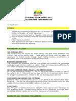 National Book Week 2011 -  Programme Info