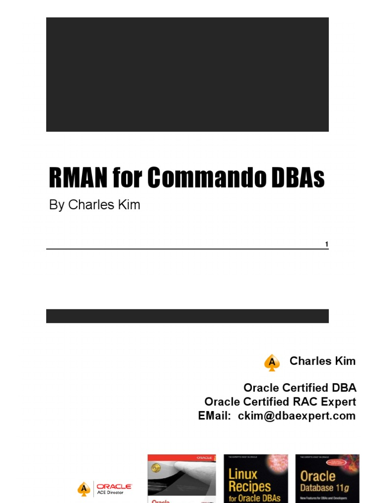 Rman Recipes For Oracle Database 11g Pdf