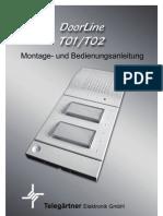 Bedienungsanleitung DoorLine T01 T02 Stand 24042007