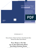 Policy Reform in Viet Nam and the Asian Development Bank's State-owned Enterprise Reform and Corporate Governance Program Loan (George Abonyi, 2005)