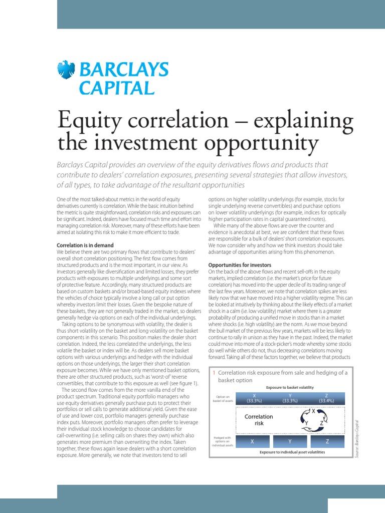 Barclays Capital Equity Correlation Explaining the