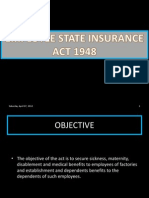 Employee State Insurance Act 1948 Ppt