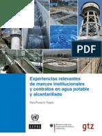 Experiencias Relevantes de Marcos Institucionales y Contratos de Agua y to