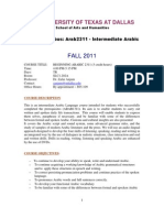 UT Dallas Syllabus for arab2311.001.11f taught by Zafar Anjum (zxa110730)