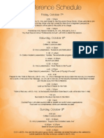 """Pathways to Recovery"" Conference Schedule, LA 2011"