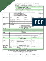 Sixth Grade Schedule