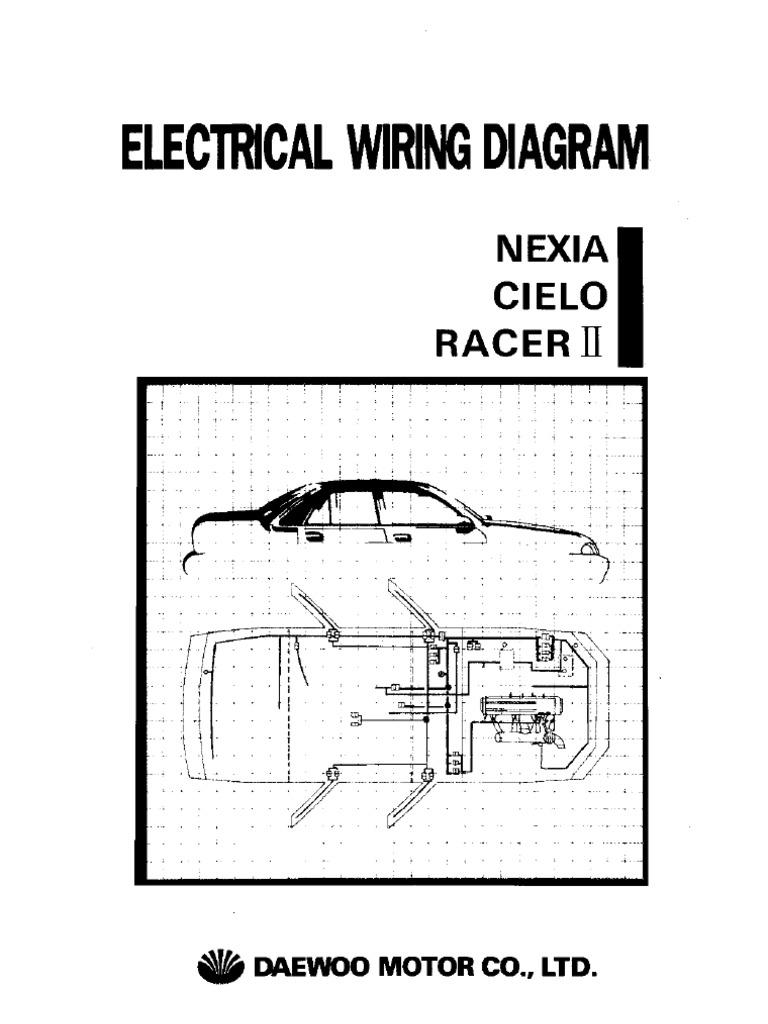 Daewoo Engine Diagrams Service Manual Maintenance And Repair Fuse Box Diagram Cielo Wiring Online