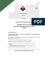 Soalan Excel p.am 2 2011 Stpm 2011 Trial Sabah