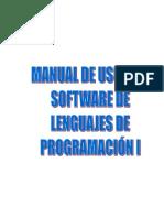 MANUAL DE USUARIO SOFTWARE DE LENGUAJES DE PROGRAMACIÓN I