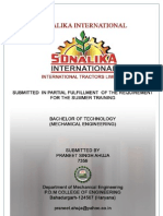 SONALIKA (Training Report)