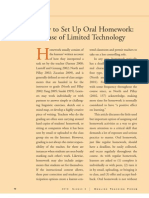 How to Set Up Oral Homework