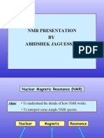 NMR Presentation by Abhishek Jaguessar