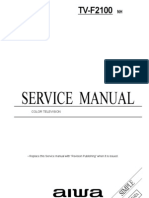 Sony Aiwa F2100 TV Service Manual