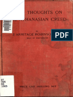 Robinson. Some thoughts on the Athanasian Creed. 1905.