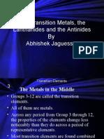 Transition Elements by Abhishek Jaguessar