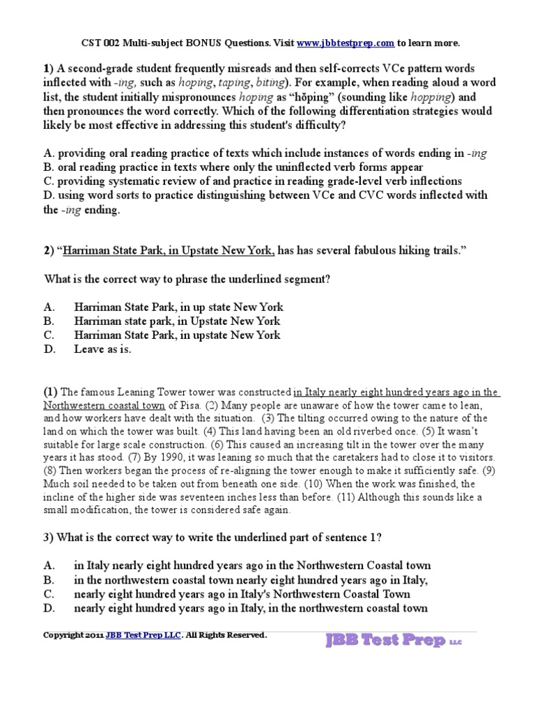 nystce multi subject cst essay questions