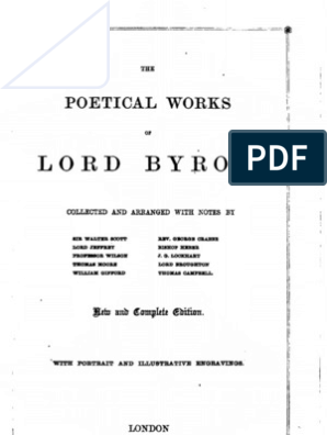 Byron Poetical Works
