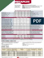 Especificaciones técnicas Fresadoras 3 Ejes Mécanuméric MECAPLUS para mecanizado CNC para la industria aeronaútica, naval, etc...