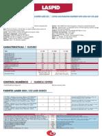 Especificaciones técnicas del láser de motorización lineal Mécanuméric LASPID