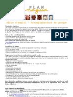 Offre Emploi - Accompagnateur QSF 2011-2012