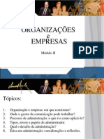 Ppt Organizacoes e Empresas Modulo II