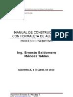 Manual Actualizado de Construccion Con Formaleta de Aluminio