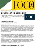 Newsletter de Setembro de 2011